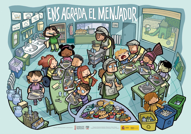 Poster didáctico. Comedor escolar. GVA. – lagruaestudio